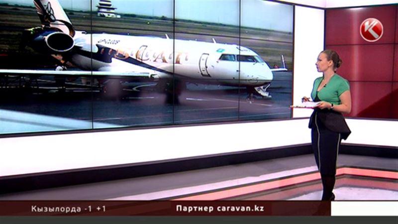Снегоуборочная машина повредила самолет в аэропорту Астаны