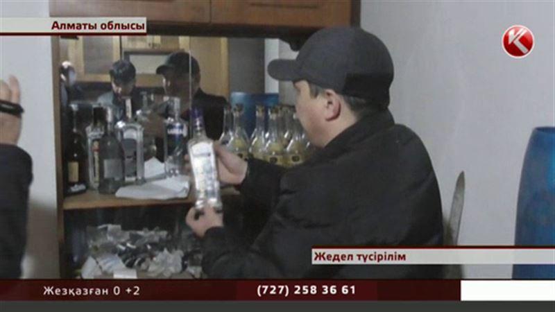 Алматы облысында астыртын арақ-шарап цехі әшкереленді