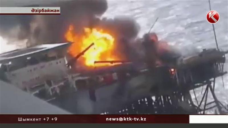Әзірбайжандағы мұнай платформасының жарылысынан кейін Каспийдегі бақылау күшейтілді