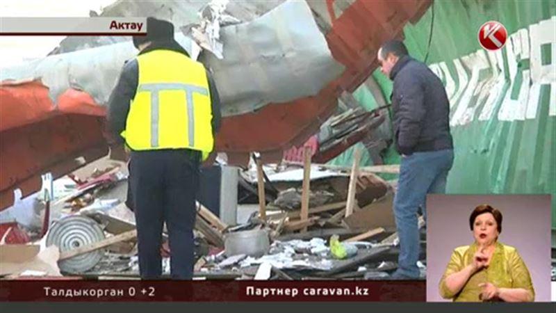 Взрыв в Актау: один пострадавший