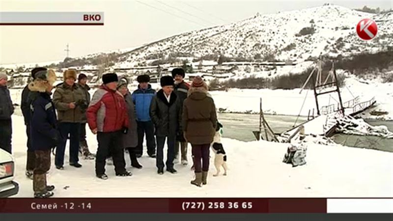 Сельчане оказались отрезаны от мира - власти ВКО не построили мост