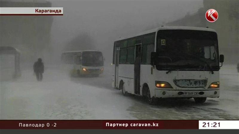 Караганда оказалась в снежном плену