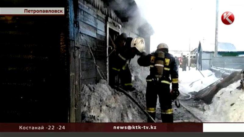 В Петропавловске при тушении жилого дома случилась двойная трагедия