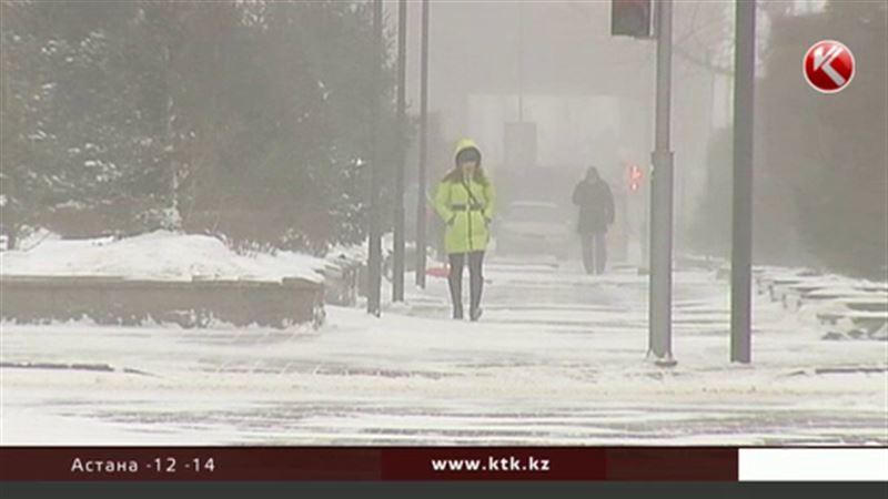 В Казахстан идут сильные морозы, но на юге будет тепло