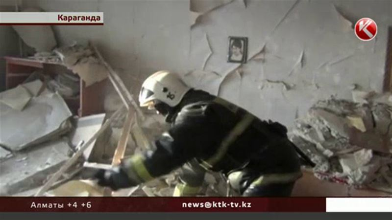 Взрыв газа разнес сразу две квартиры в Караганде