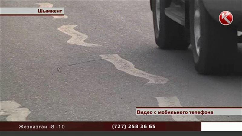 Разметка на дороге рассмешила шымкентских водителей