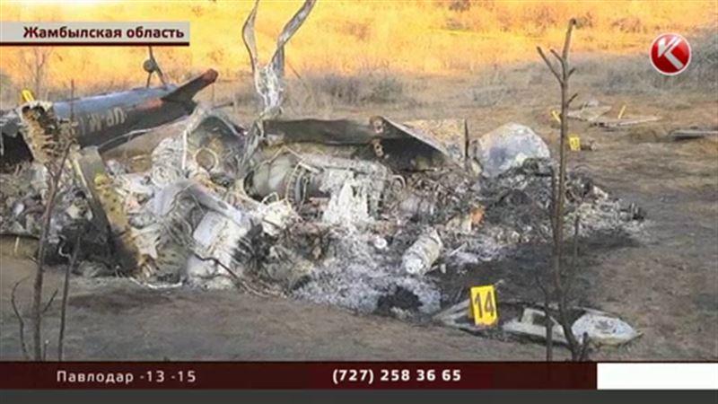 Пилота упавшего в Жамбылской области вертолета допрашивать пока нельзя