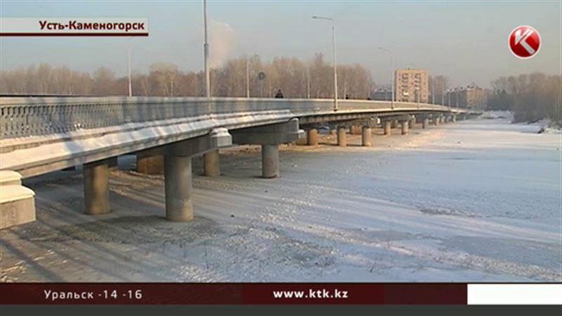 В Усть-Каменогорске впервые за много лет перемерзла Ульба