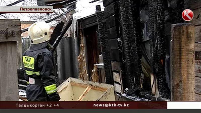 В Петропавловске из-за пожара на улице остались восемь семей