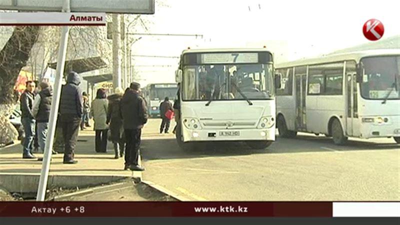 В Алматы не вышли в рейс 20 автобусов частного автопарка