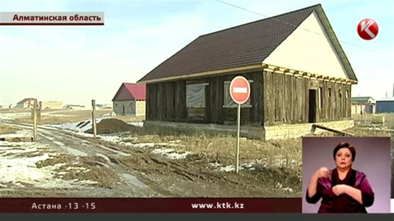 В поселке под Алматы жители сидят по домам – боятся утонуть в грязи