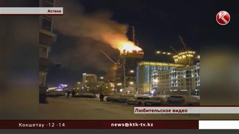 В Астане выясняют причины пожара в небоскребе «Абу-Даби Плаза»