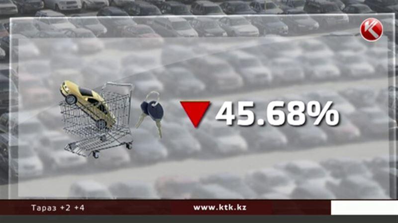 В Казахстане обваливается рынок новых автомобилей