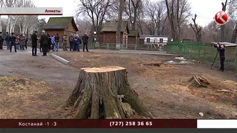 В зоопарке Алматы вырубили 200 деревьев, но, как оказалось, законно