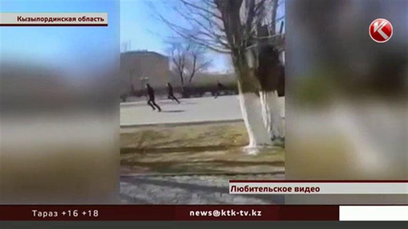Массовая драка со стрельбой у акимата Кызылорды