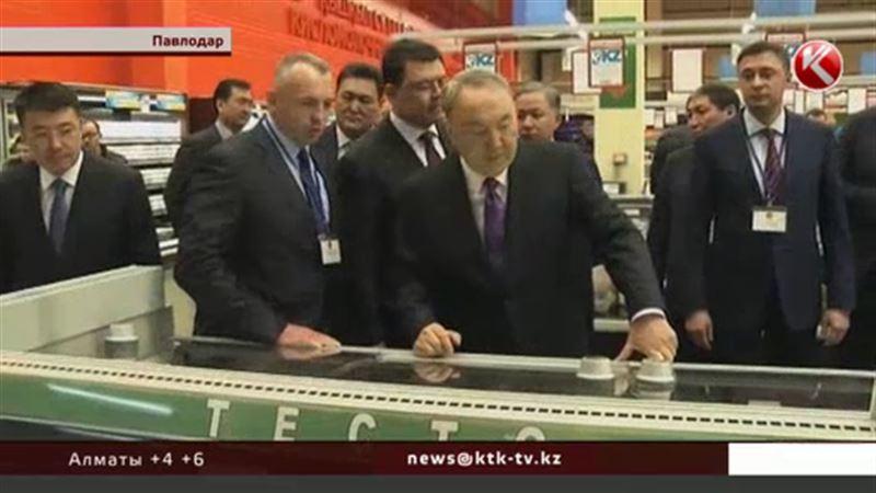 Назарбаев купил хлеб, сметану, творог, гречку и чай