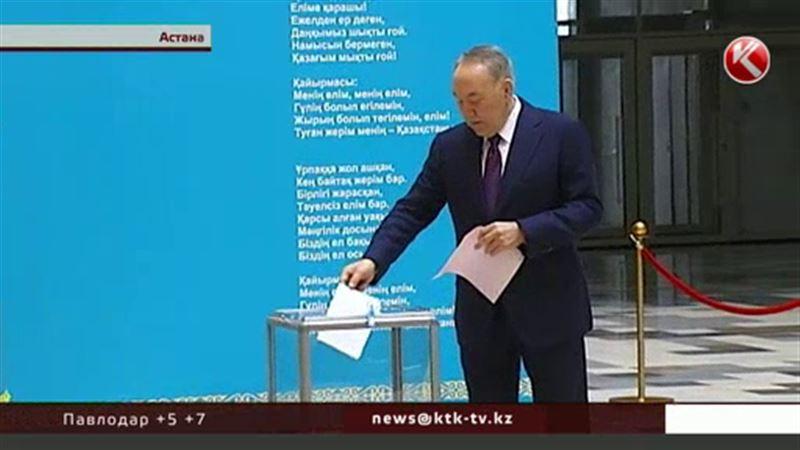 В столице проголосовал  президент Казахстана