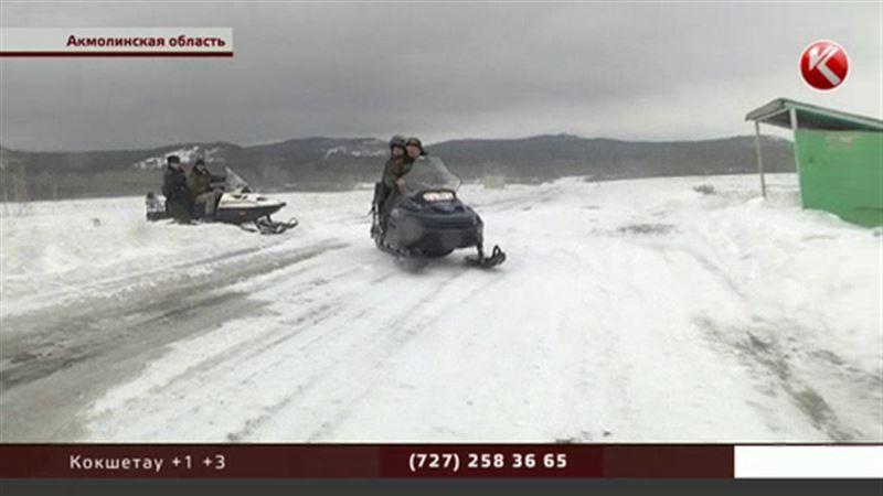 В заснеженные акмолинские села бюллетени доставляли на снегоходах