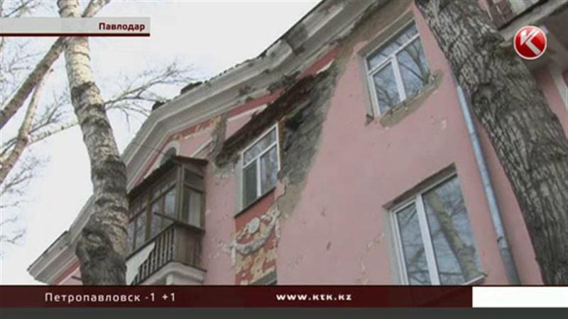 В Павлодаре обвалилась стена жилого дома