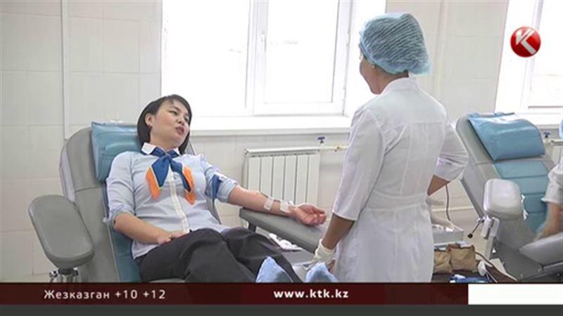 Деловые женщины Мангистауской области сдавали кровь