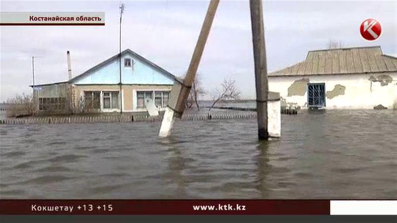 Целый поселок ушел под воду в Костанайской области