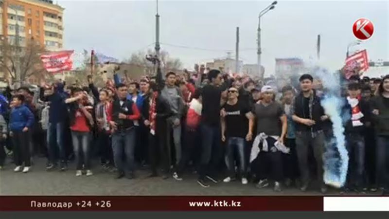 Массовое шествие футбольных фанатов напугало актюбинцев
