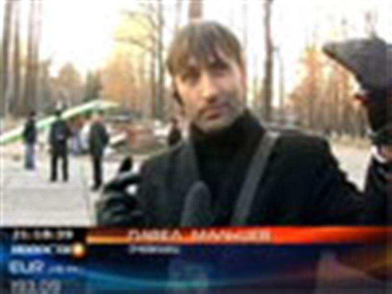 В Бишкеке потерпел крушение дельтаплан
