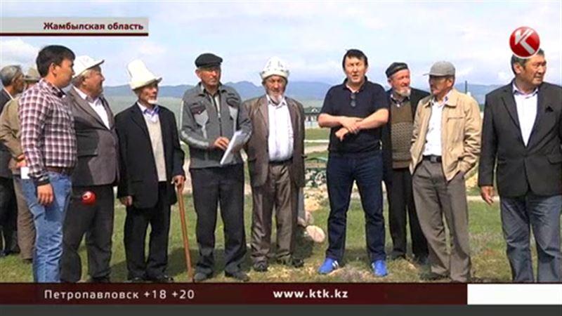 Сельчан Жамбылской области перепугало известие о передаче земель Кыргызстану