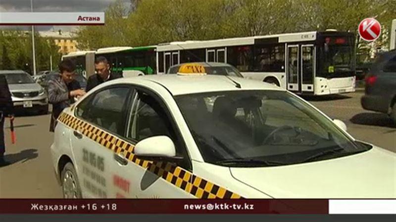 Астанада кассалық аппараты жоқ таксишілер жаппай жазаланып жатыр.