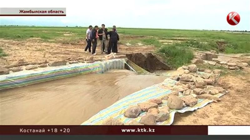 Жамбылский предприниматель умудрился затопить кладбище