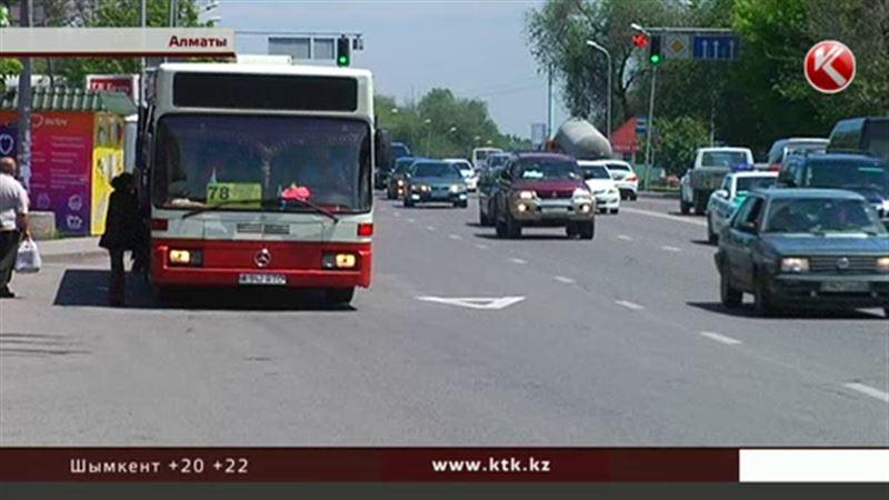 Специальные полосы для автобусов появятся и на других улицах Алматы