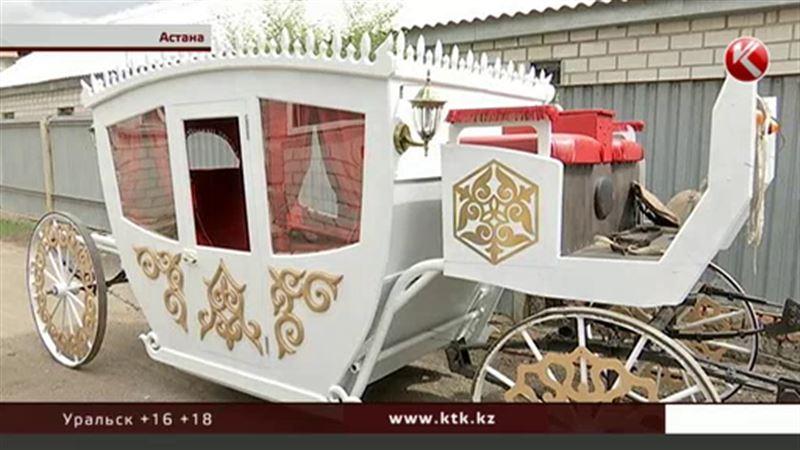 В Казахстане новый свадебный тренд – кареты ручной работы