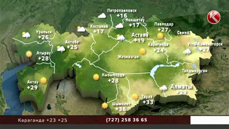 Аномальная жара в Казахстане уступает место дождям и грозам
