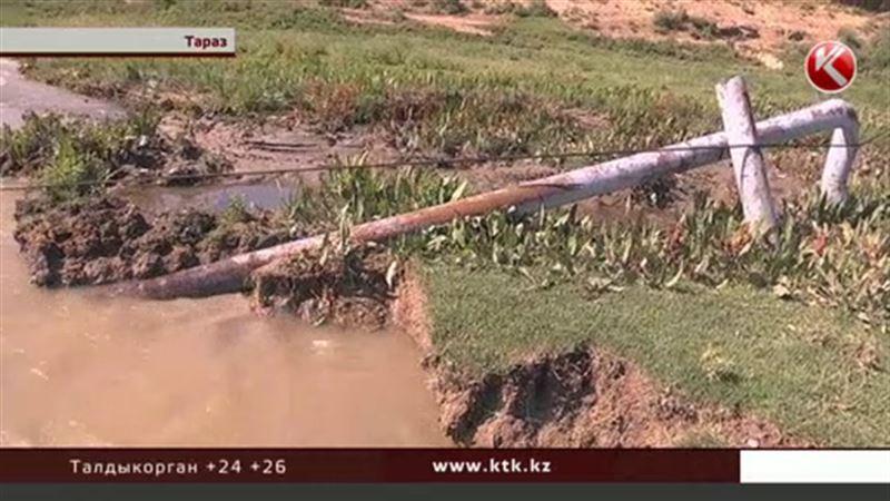 В Жамбылской области сельчане сидят без газа – газопровод смыло