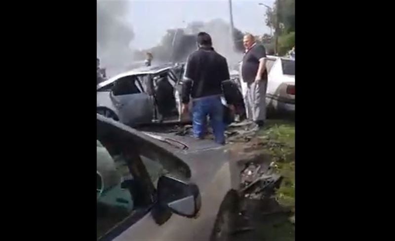 Жуткое ДТП произошло на оживленной улице в Алматы. Фото
