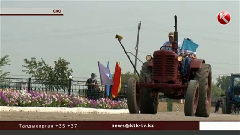 К юбилею села в СКО устроили парад ретротехники