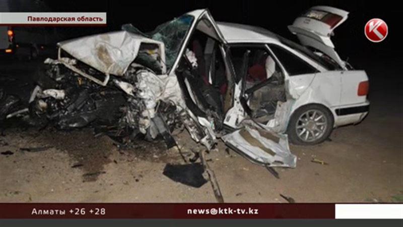 В Павлодарской области на трассе погибли 6 человек