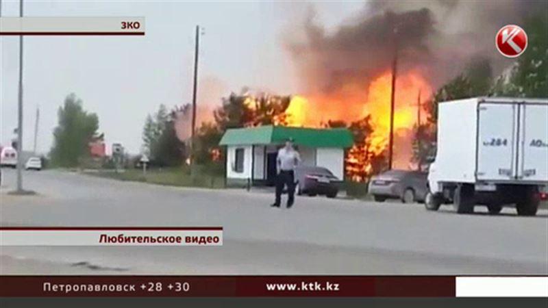 Во время взрыва газовой заправки в ЗКО пострадали оператор и водитель