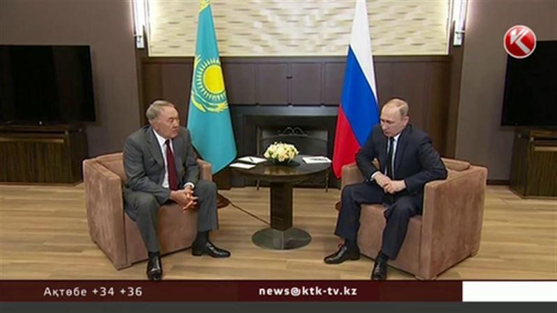 Владимир Путин Нұрсұлтан Назарбаевқа алғыс айтты