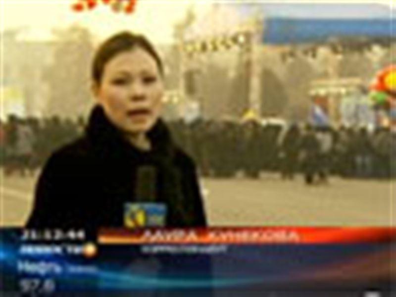 Огонь Азиады в Казахстане. В Алматы прошла эстафета факела Седьмых Зимних Азиатских игр