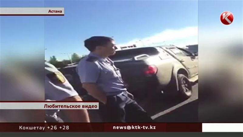 ЭКСКЛЮЗИВ: Человек в форме майора катался по встречной прямо возле МВД