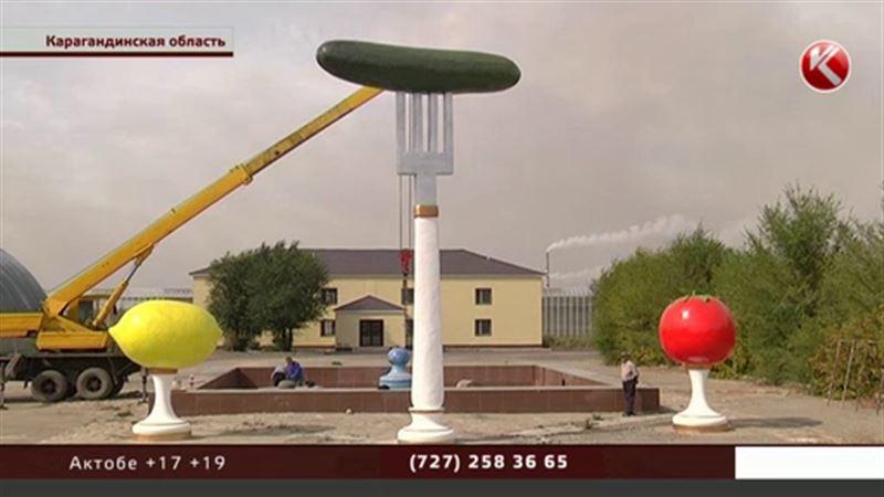 Восьмиметровый памятник пупырчатому установили в Карагандинской области