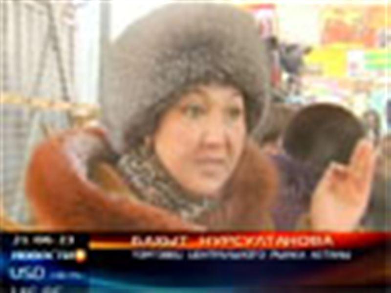В Астане продолжается забастовка торговцев главного столичного базара