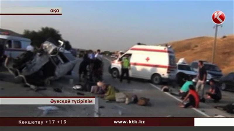 ОҚО-да жантүршігерлік жол апатынан 6 адам мерт болып, 16-сы  өлім аузында жатыр