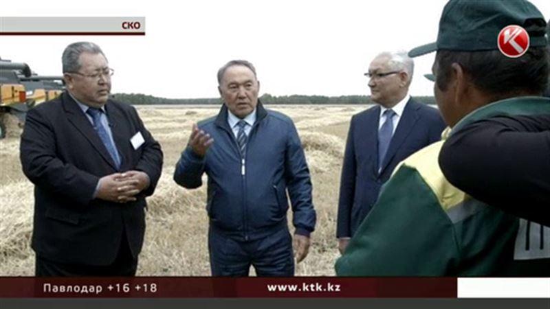 Нурсултан Назарбаев инспектировал поля в Северо-Казахстанской области