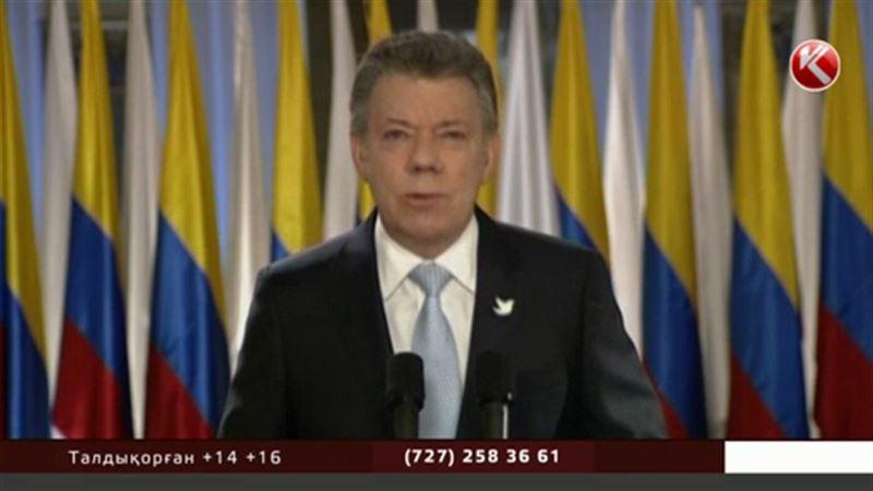 Колумбия президенті бейбітшілік саласы бойынша Нобель сыйлығының лауреаты атанды
