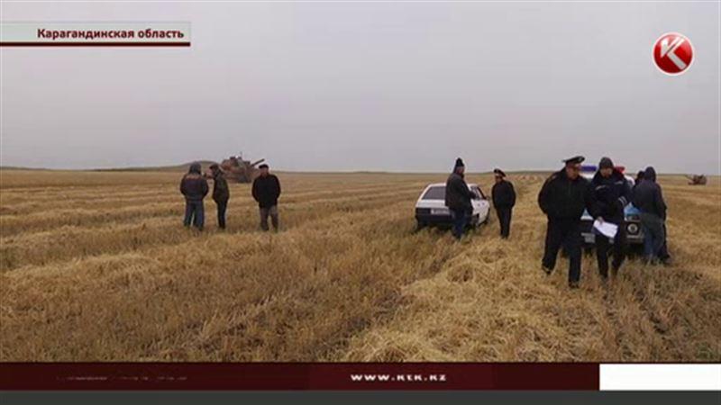 Группа молодых людей мешает собирать урожай в Карагандинской области
