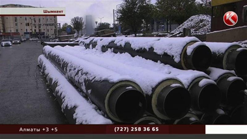 Снег застал врасплох шымкентских тепловиков