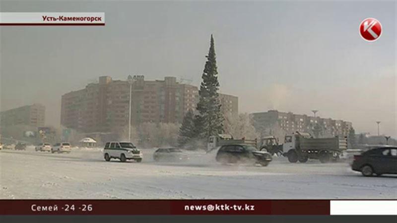 Первую в стране новогоднюю елку установили в Усть-Каменогорске