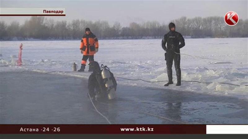 Павлодарские водолазы погружались при 30 градусах мороза